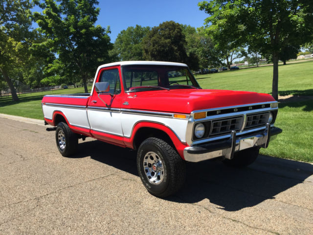 ford f 250 standard cab pickup 1977 red for sale f26sry66451 restored beautiful 1977 ford f 250. Black Bedroom Furniture Sets. Home Design Ideas