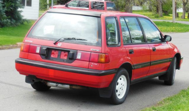 Honda Civic Wagon 1990 Red For Sale. JHMEE4868LS000889 ...