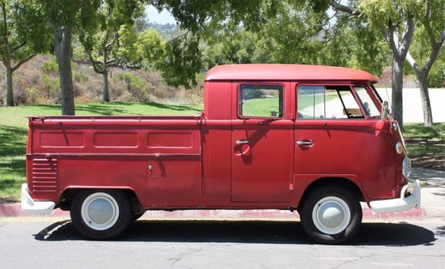 Volkswagen Bus Vanagon Extended Cab Pickup 1964 Ruby Red For Sale 1146449 Ruby Red 1964 Vw