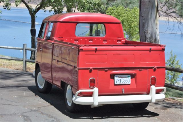 1964 Vw Truck : Volkswagen bus vanagon extended cab pickup ruby red