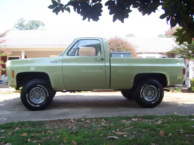Chevrolet C-10 Standard Cab Pickup 1973 GREEN For Sale  RUST FREE