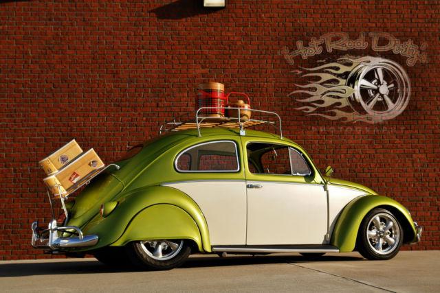 volkswagen beetle classic oval window 1956 alfa romeo acid green
