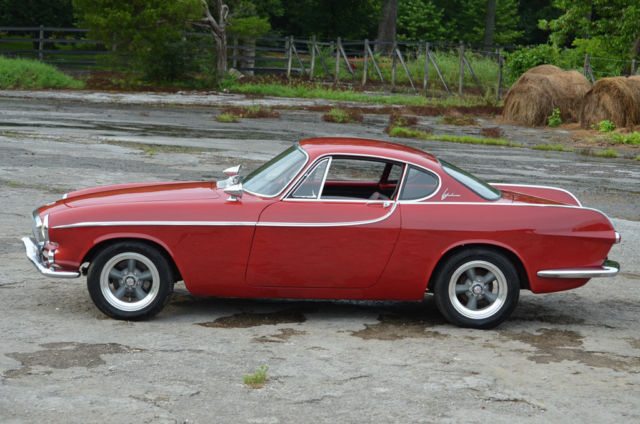 volvo p1800 coupe 1962 red for sale l006474 stunning volvo p1800 coupe rust free from southern. Black Bedroom Furniture Sets. Home Design Ideas