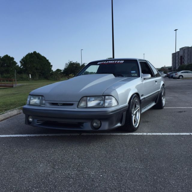 Black Mustang Silvers: Ford Mustang Hatchback 1993 Silver For Sale