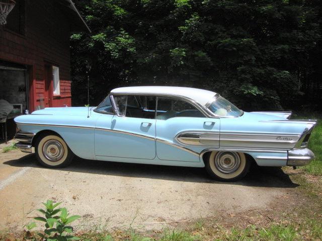 buick century 4 door hardtop 1958 baby blue w white hardtop for sale 6 e105511 survivor car. Black Bedroom Furniture Sets. Home Design Ideas