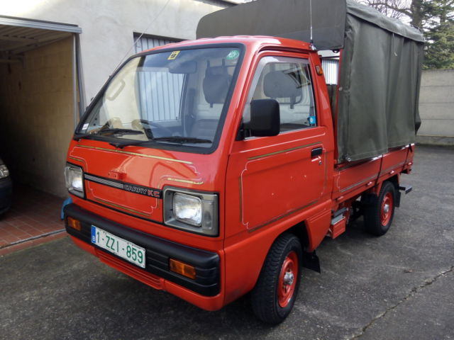 suzuki other pick up 1980 red for sale db7t326019 suzuki carry kc 4x4 mini truck time warp. Black Bedroom Furniture Sets. Home Design Ideas