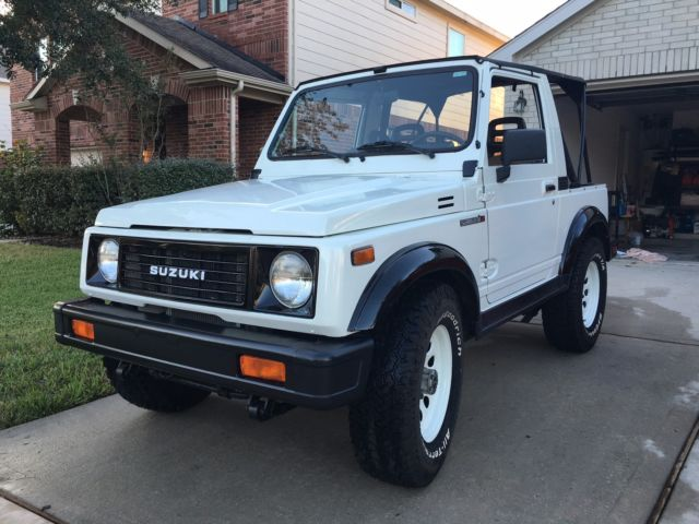 suzuki samurai convertible 1988 white for sale js4jc51c3j4272339 suzuki samurai 1988 5 4x4. Black Bedroom Furniture Sets. Home Design Ideas
