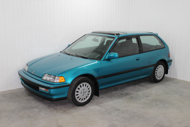 Honda Civic Hatchback 1991 Teal For 2hged7361mh008677 Very Rare Untouched Low Mileage Tahitian Green 91 Si Pristine Condition
