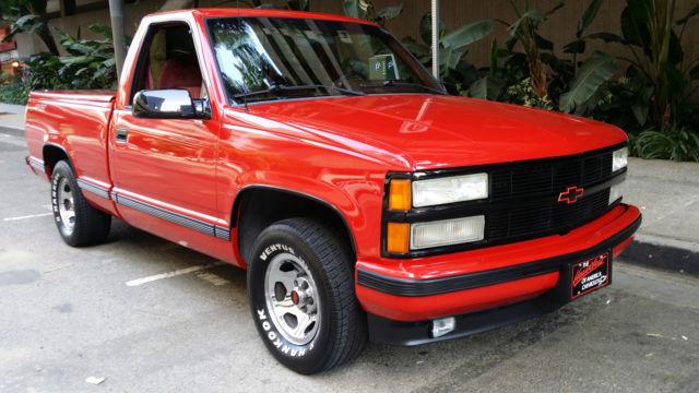 chevrolet c  k pickup 1500 standard cab pickup 1991 red for