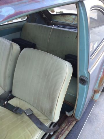 Volkswagen Rare Pastel Interior Blue Vw Patina Bug Beetle
