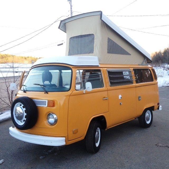 volkswagen bus vanagon van camper 1976 yellow for sale 2362072103 vw westfalia camper bus type. Black Bedroom Furniture Sets. Home Design Ideas