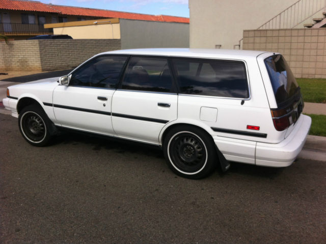 toyota camry station wagon 1988 white for sale. Black Bedroom Furniture Sets. Home Design Ideas