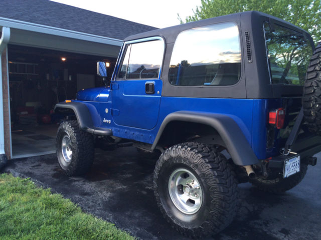 jeep wrangler 1994 blue for sale 1j4fy19pxrp450374 yj v8 swap full and half doors hardtop. Black Bedroom Furniture Sets. Home Design Ideas